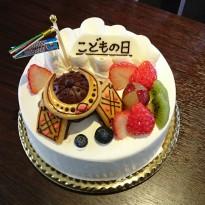かぶとデコレーションケーキ